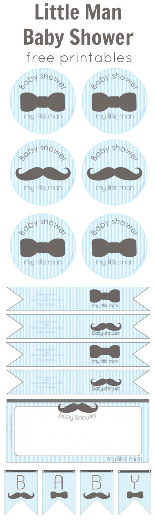 Fabulous We Heart Parties: Free Printables Little Man Baby Shower Free Printables throughout Little Man Baby Shower Free Printables