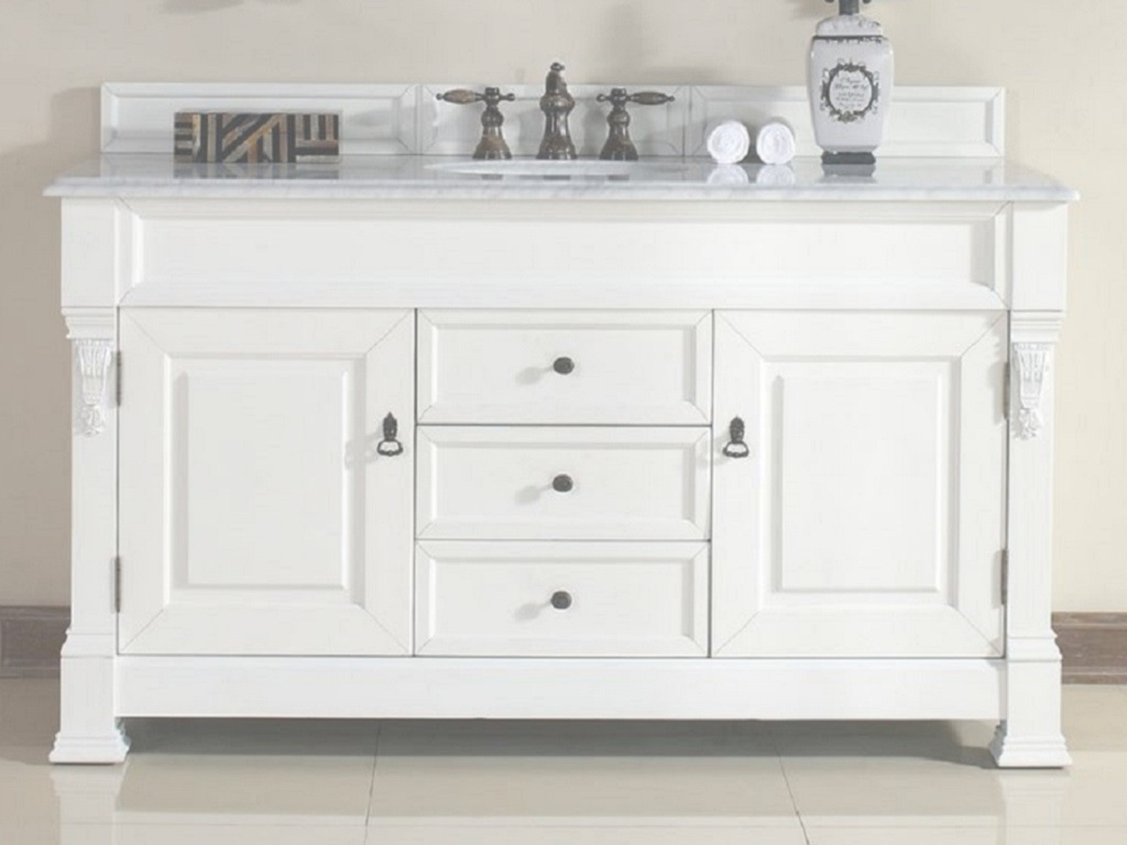 Fabulous White 60 Vanity Single Sink - Vanity Ideas pertaining to Bathroom Vanity 60 Single Sink