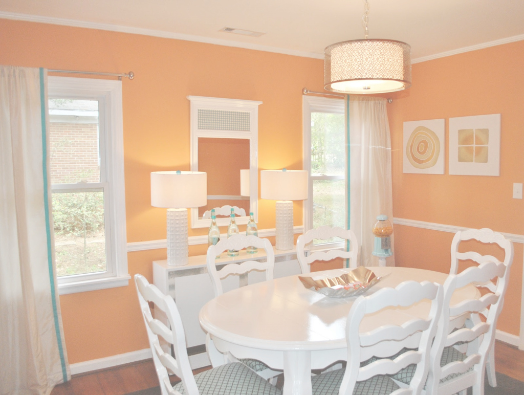 Fabulous White Dining Furniture In Orange Dining Room Color - Prove That The in Orange Dining Room