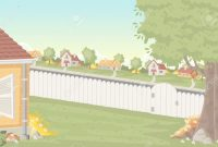 Fabulous Wood Fence On The Backyard Of A Colorful House In Suburban for Fresh Backyard Cartoon