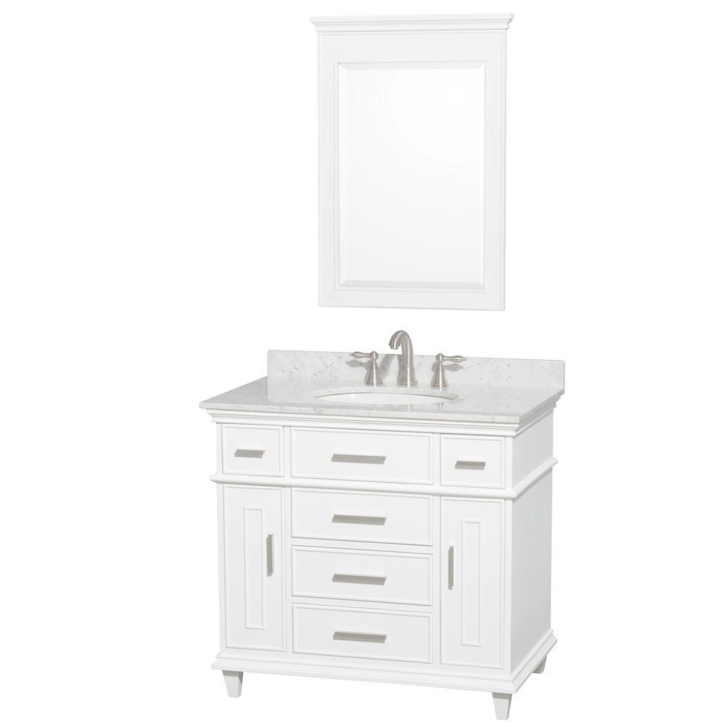 Fabulous Wyndham Collection Berkeley 36 In. Vanity In White With Marble with regard to Awesome 36 Inch Bathroom Vanity With Top