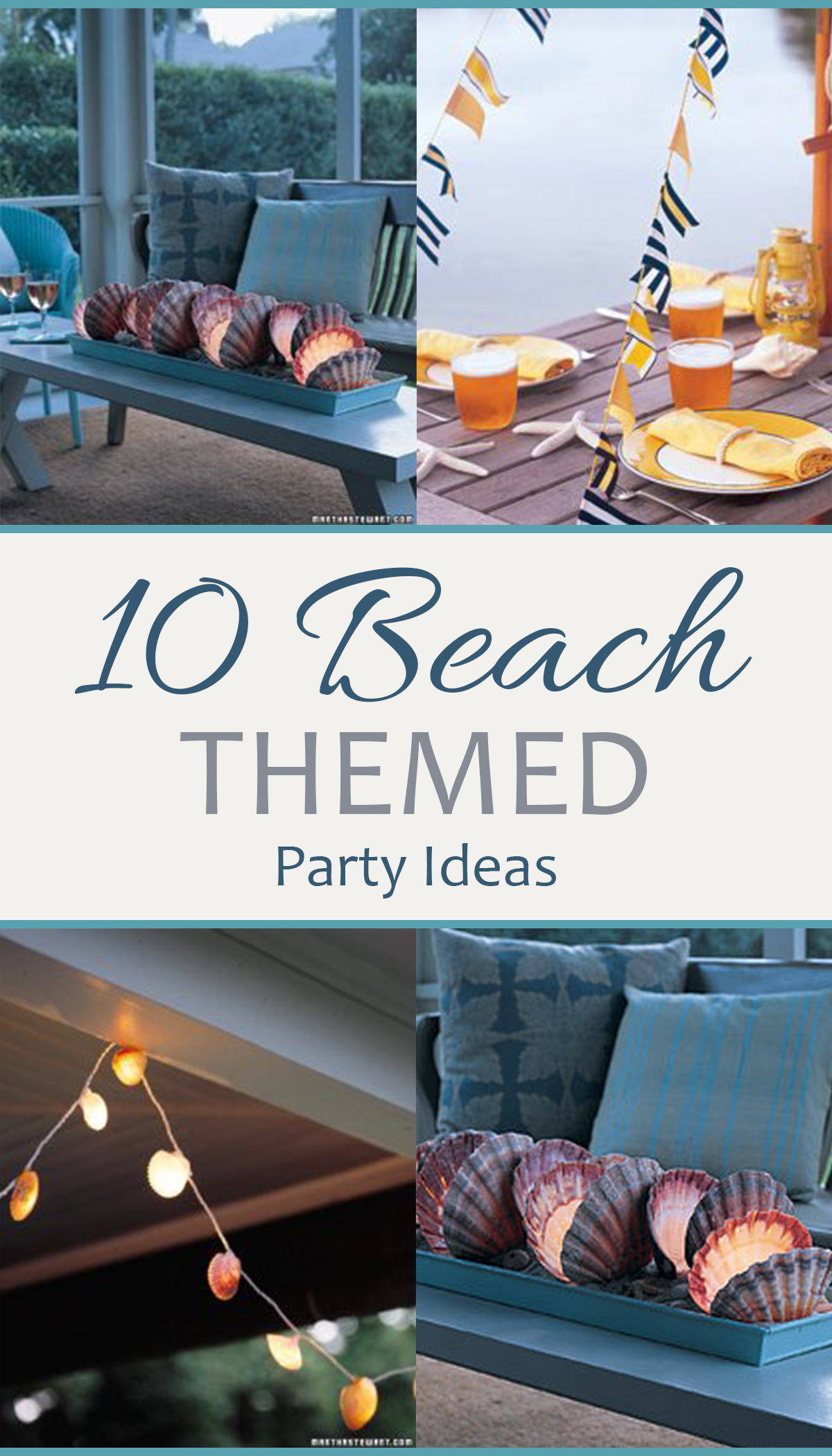 Fancy 10 Beach Themed Party Ideas - Sand Between My Piggies- Beach inside Fresh Beach Theme Party Decorations