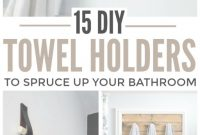 Fancy 15 Diy Towel Holders To Spruce Up Your Bathroom for Bathroom Towel Holder Ideas
