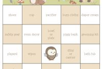 Fancy 29 Sets Of Free Baby Shower Bingo Cards within High Quality Free Baby Shower Bingo