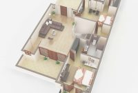 Fancy 3D Floor Plan Rendering House Plan Service Company | Netgains for Indian House Plans