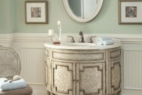"Fancy 44"" Patrician Capiz Shell Single Bath Vanity in Luxury 44 Bathroom Vanity"