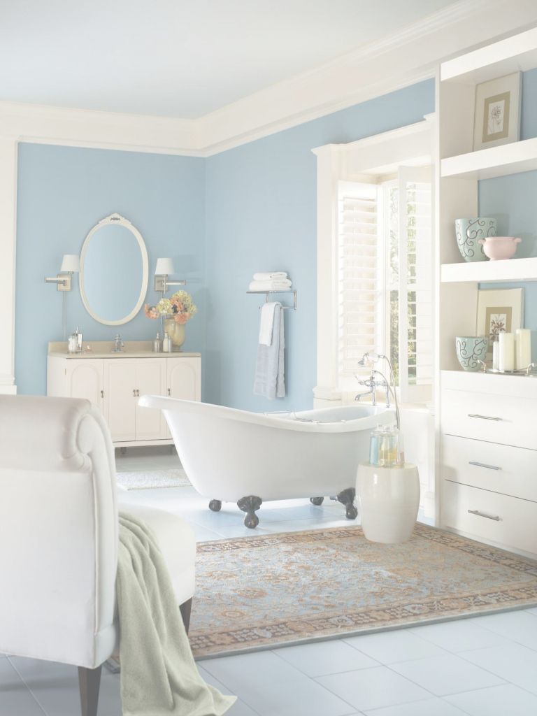 Fancy 5 Fresh Bathroom Colors To Try In 2017 | Hgtv's Decorating & Design with High Quality Blue Bathroom Paint