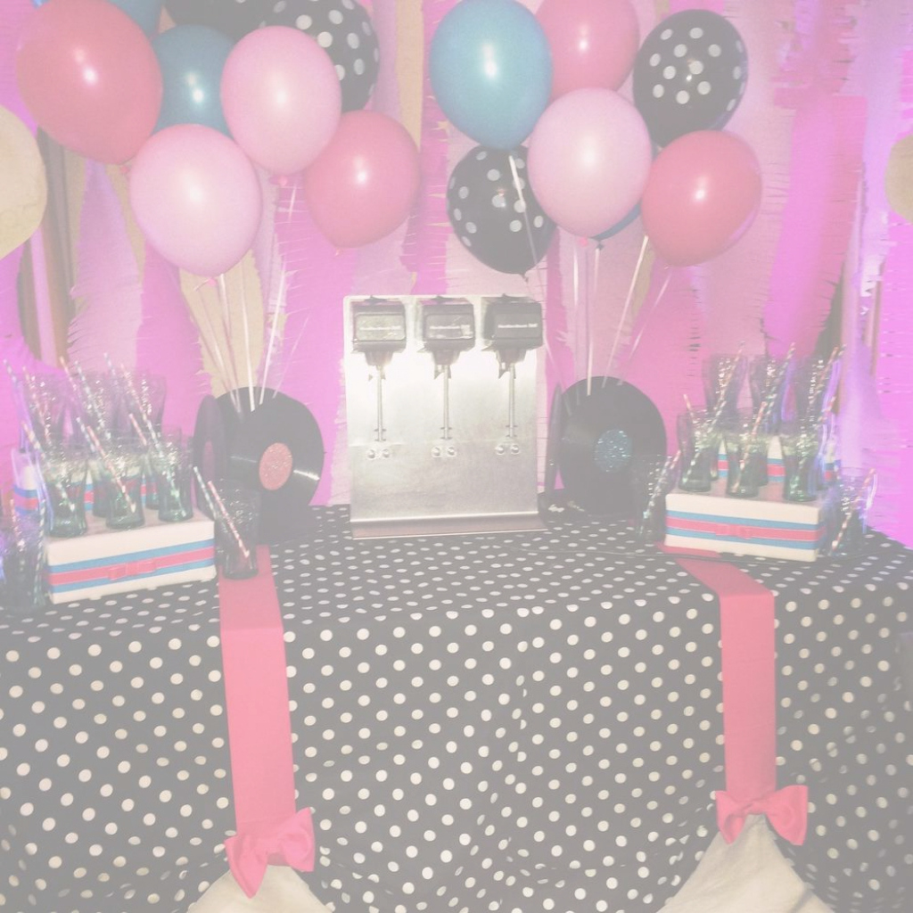 Fancy 50S Theme Party Decorations Fresh 50's Theme Sock Hop Birthday Party intended for 50S Theme Party Decorations