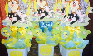 Fancy 6 Baby Looney Tunes Baby Shower Centerpiecestinksmagicaldeco regarding Baby Looney Tunes Baby Shower