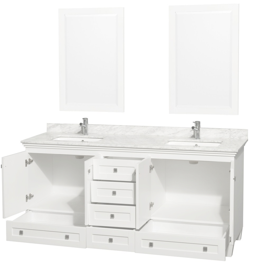 "Fancy 72"" Acclaim Double Bathroom Vanity Setwyndham Collection - White in 72 Bathroom Vanities"