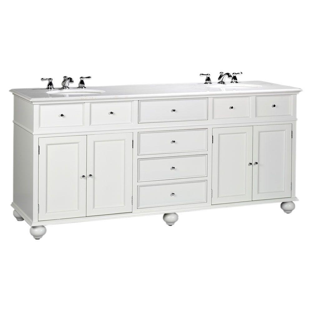 Fancy 72 Inch Vanities - Bathroom Vanities - Bath - The Home Depot intended for Bathroom Vanities Double Sink 72