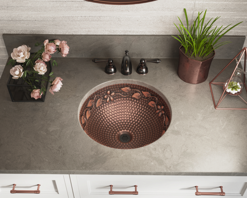 Fancy 923 Single Bowl Copper Bathroom Sink for Bowl Bathroom Sink