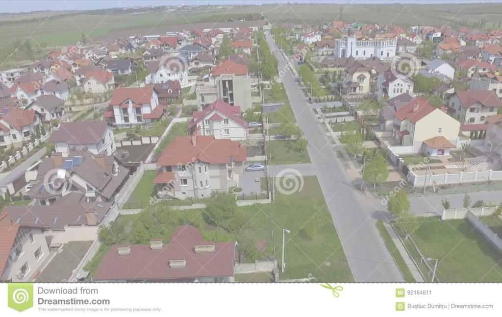 Fancy Aerial View Of Suburban Bedroom Community In Chisinau, Moldova with regard to Bedroom Community