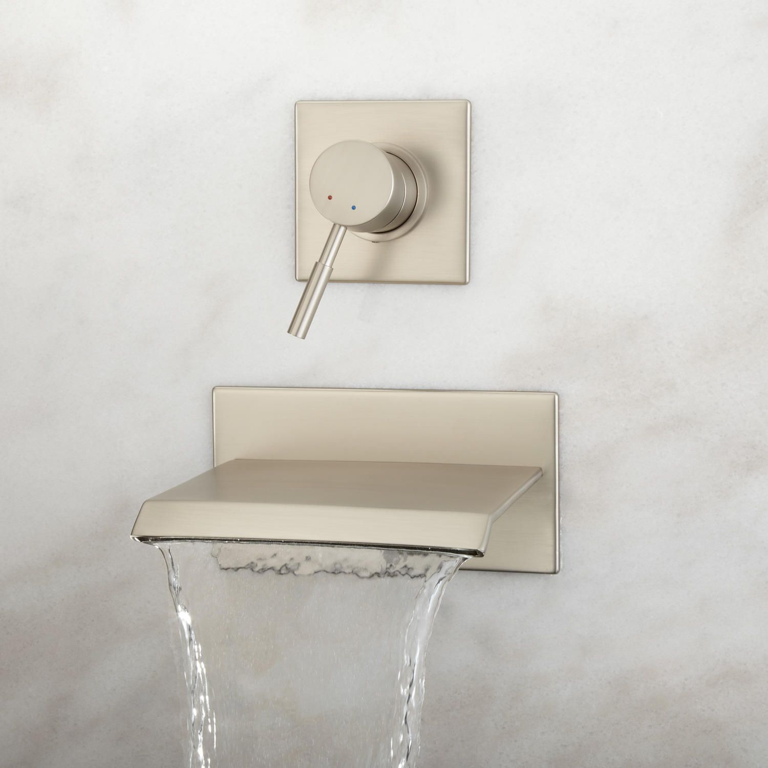 Fancy Algorithm One-Piece Elongated Toilet - Ada Compliant - Toilets And for Wall Mounted Bathroom Faucets Brushed Nickel