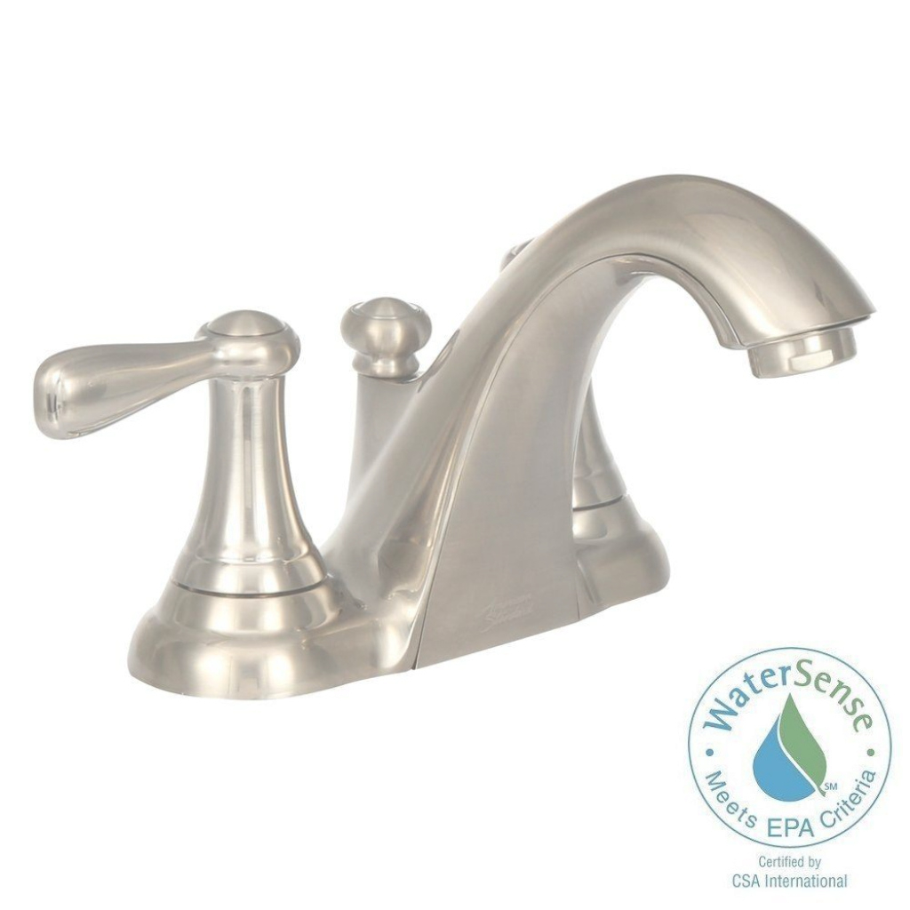 Fancy American Standard Marquette 4 In. Centerset 2-Handle Low Arc within Satin Nickel Bathroom Faucet