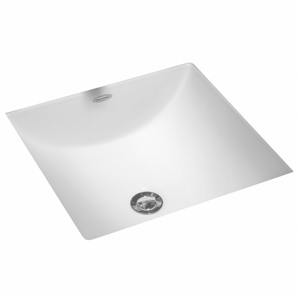 Fancy American Standard Studio Carre Square Undercounter Bathroom Sink throughout Standard Bathroom Sink