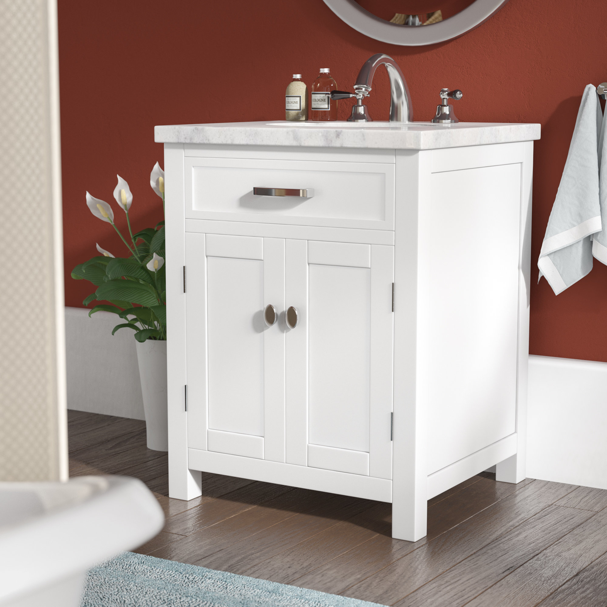 "Fancy Andover Mills Latham 24"" Single Bathroom Vanity Set & Reviews 