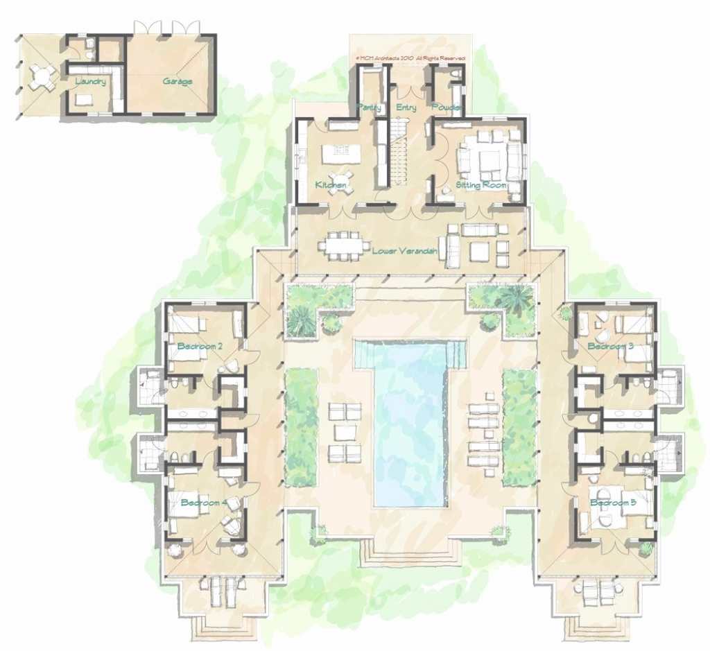 Fancy Architectural Home Plans » Center Courtyard Home Plans | Victorian intended for Hacienda House Plans Center Courtyard Image