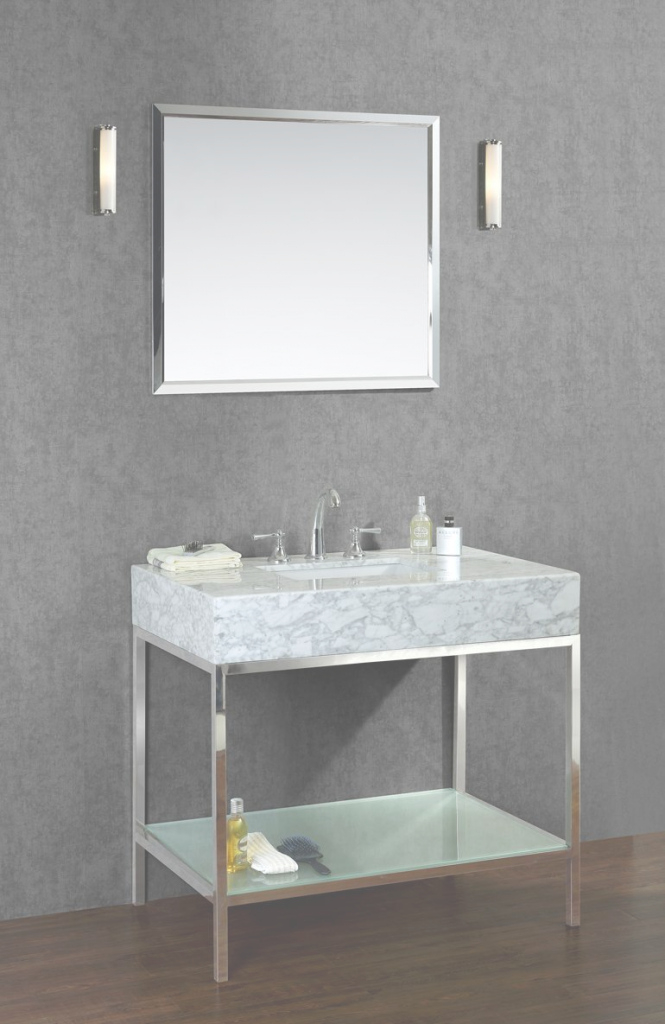 "Fancy Ariel Brightwater 48"" Single Sink Bathroom Vanity Set 