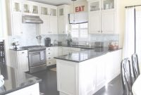 Fancy Attractive White Cabinets With Dark Countertops Kitchen Black regarding Luxury Black Countertop Kitchen