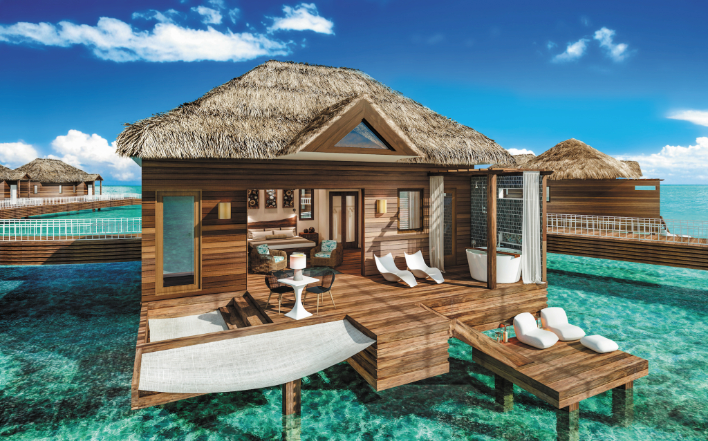Fancy Awesome Footage Of The First Overwater Villas In The Caribbean with regard to Sandals Over The Water Bungalows