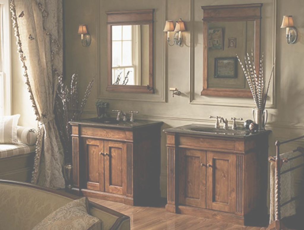 Fancy Awesome Light Wood Bathroom Vanity And Country Bathroom with regard to Country Bathroom Vanities