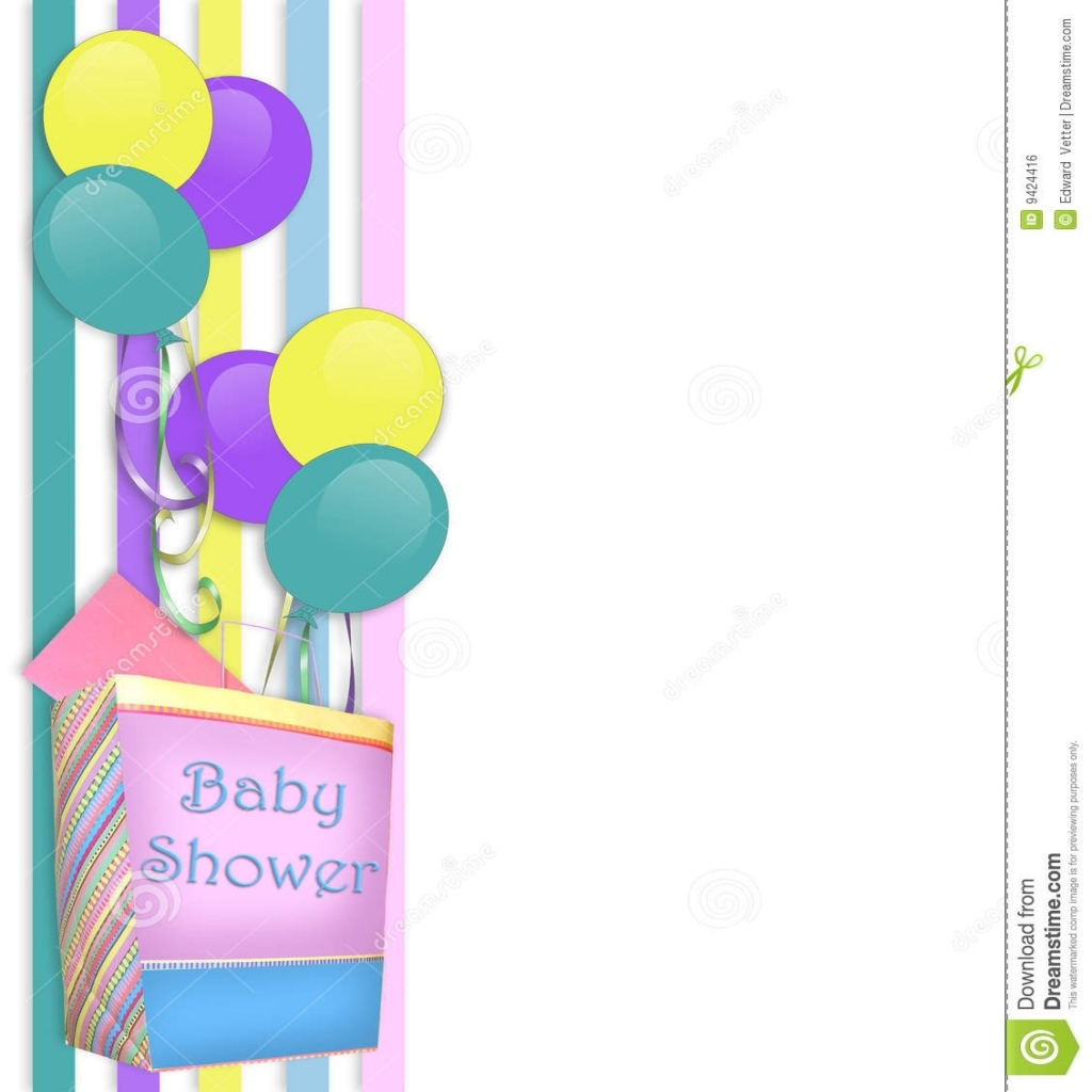 Fancy Ba Shower Invitation Border Stock Illustration Illustration Of within Unique Baby Shower Borders