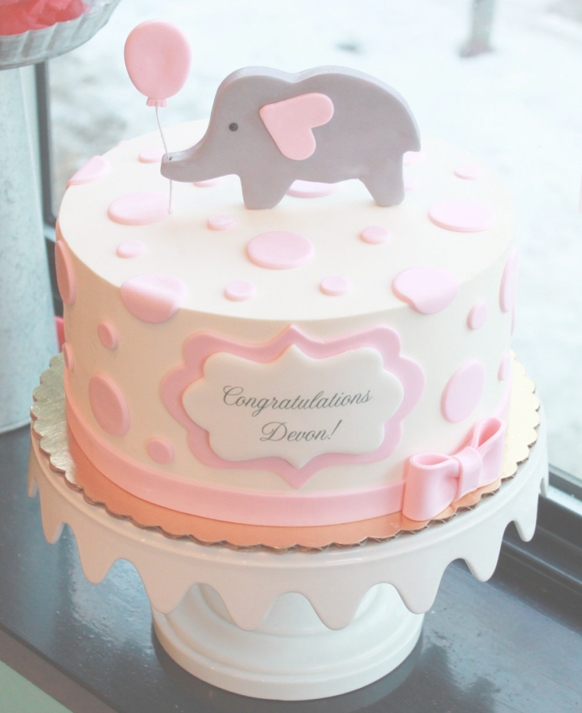 Fancy Baby Shower Cake Ideaslsl Cakes Omega Center Org For Fantastic regarding Baby Girl Shower Cake Ideas