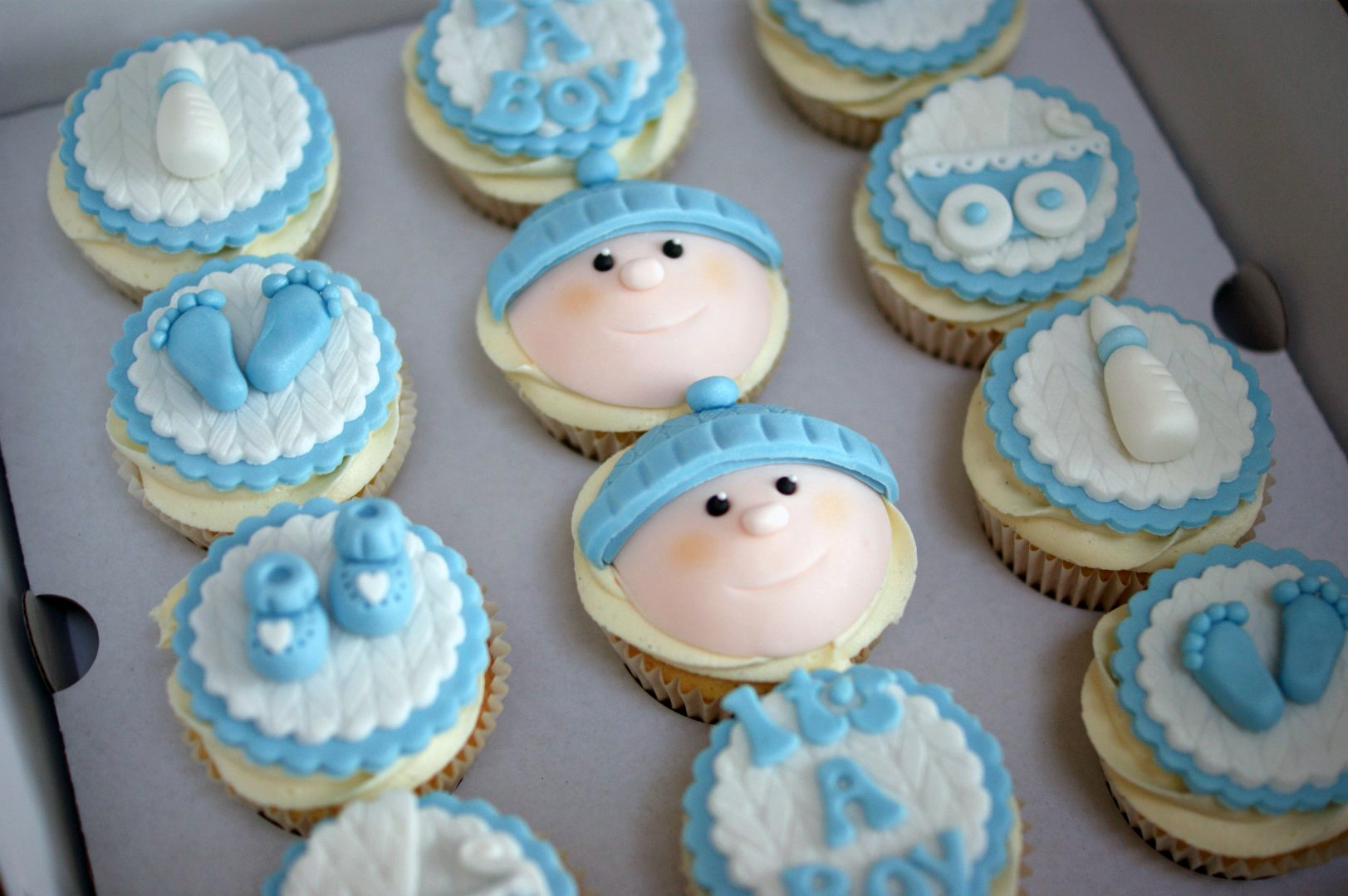 Fancy Baby Shower Cupcakes For Boy - Baby Showers Ideas pertaining to Baby Shower Cupcakes