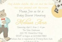 Fancy Baby Shower Rhyme Invite Nursery Rhyme Baby Shower Invitation Cow with regard to Best of Baby Shower Rhymes
