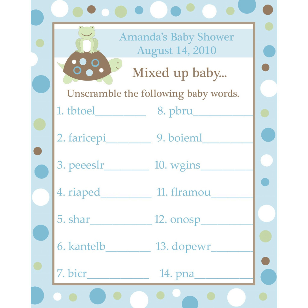 Fancy Baby Shower Unscramble Decoration Unscramble Me Baby Shower Answers regarding Elegant Baby Shower Unscramble