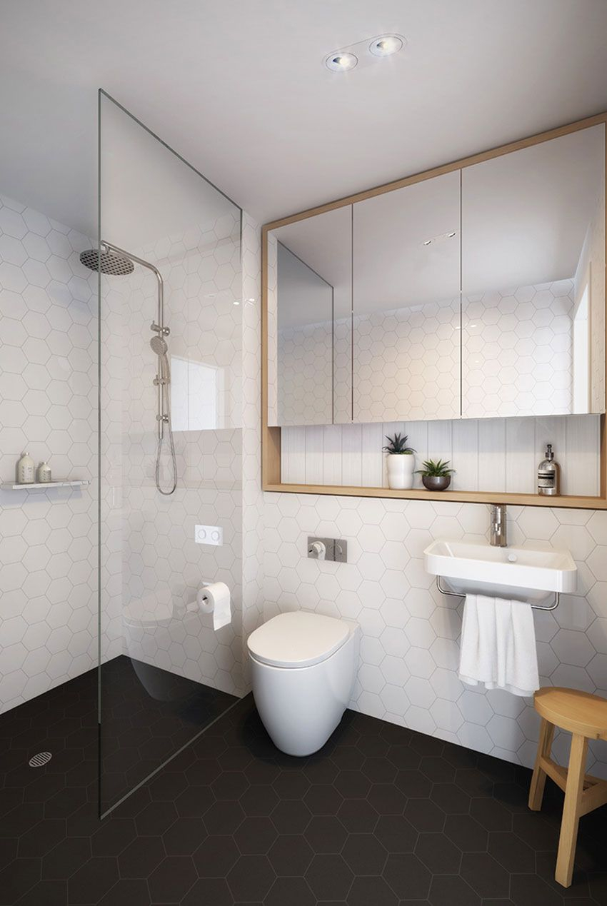 Fancy Baño Moderno … | Baños | … with Mirror Cabinet For Bathroom