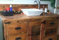 Fancy Barnwood Vanity With Vessel Sink. | Diy Renovating And Home Repairs within Luxury Barnwood Bathroom Vanity