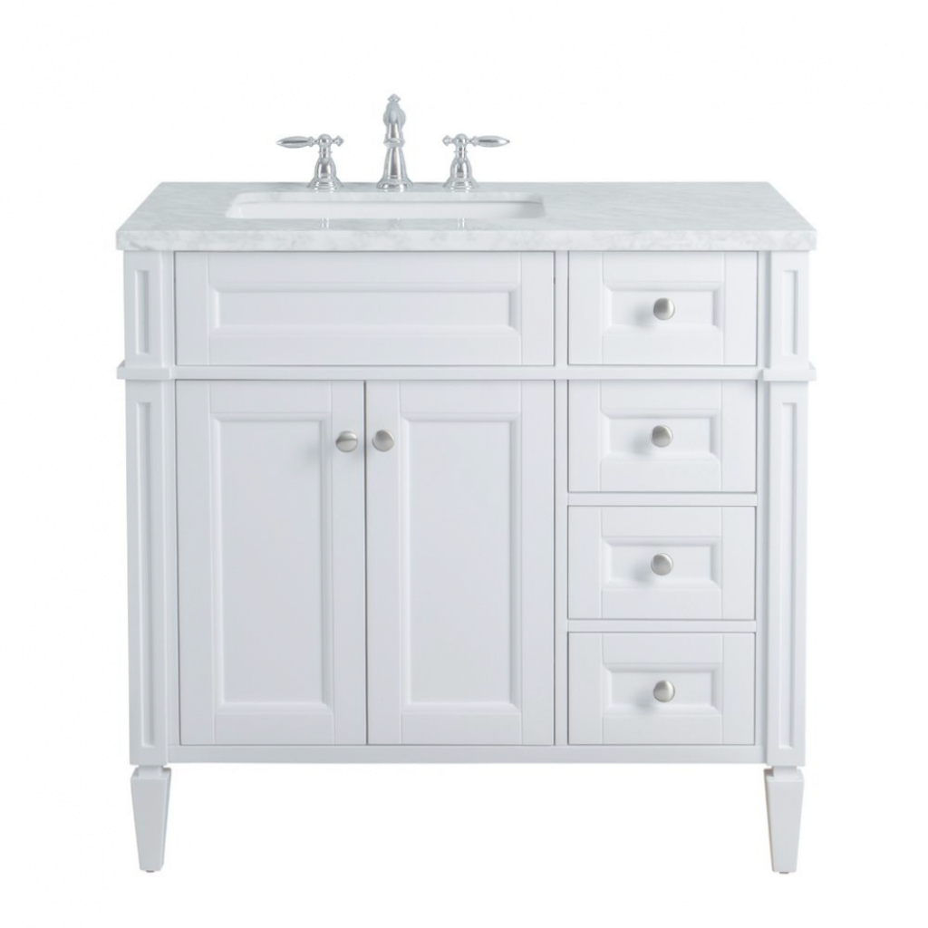 Fancy Bath: Stufurhome Anastasia French 36 In. White Single Sink Bathroom inside Lovely 36 White Bathroom Vanity