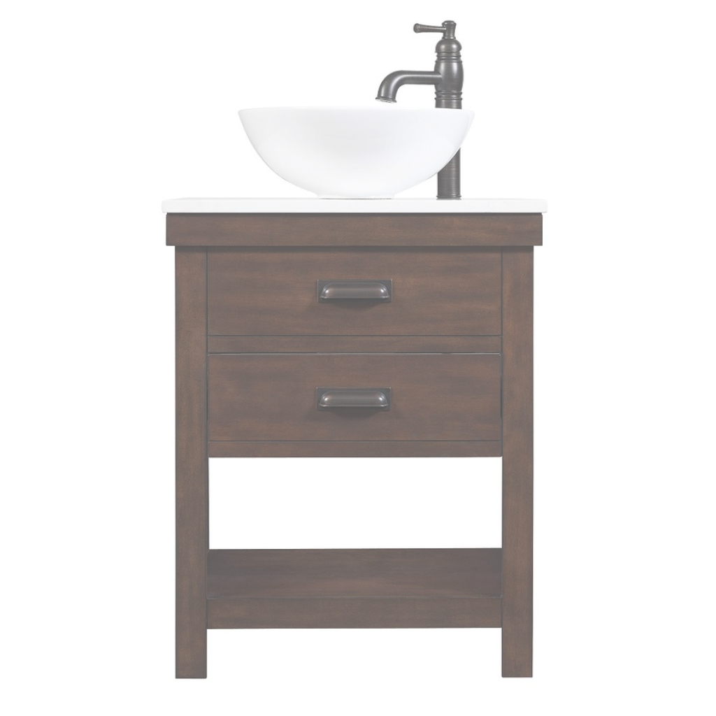 Fancy Bathroom: 24 Inch Brown Lowes Bathroom Vanities With Ceramic Vessel for Beautiful 24 Bathroom Vanity And Sink