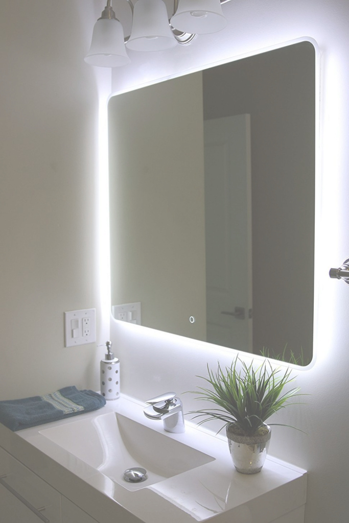 Fancy Bathroom : Bathroom Illuminateds For Bathrooms Delightful Com in Best of Illuminated Wall Mirrors For Bathroom