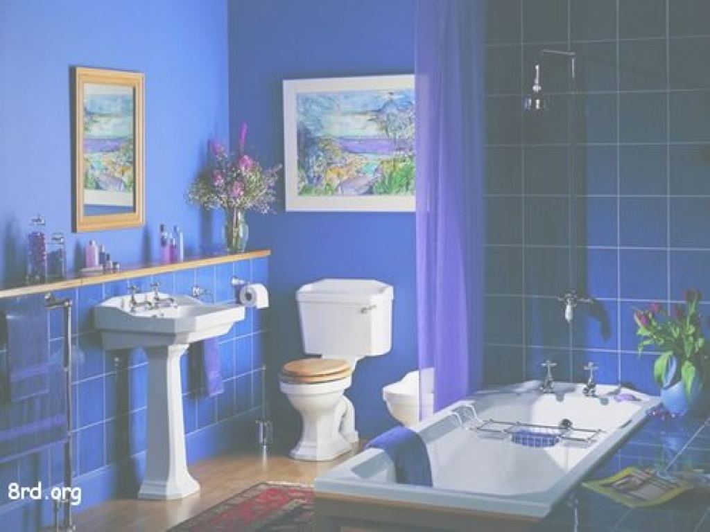 Fancy Bathroom : Blue Bathroom Extraordinary Photo Design Kinds Of Paint in High Quality Blue Bathroom Paint