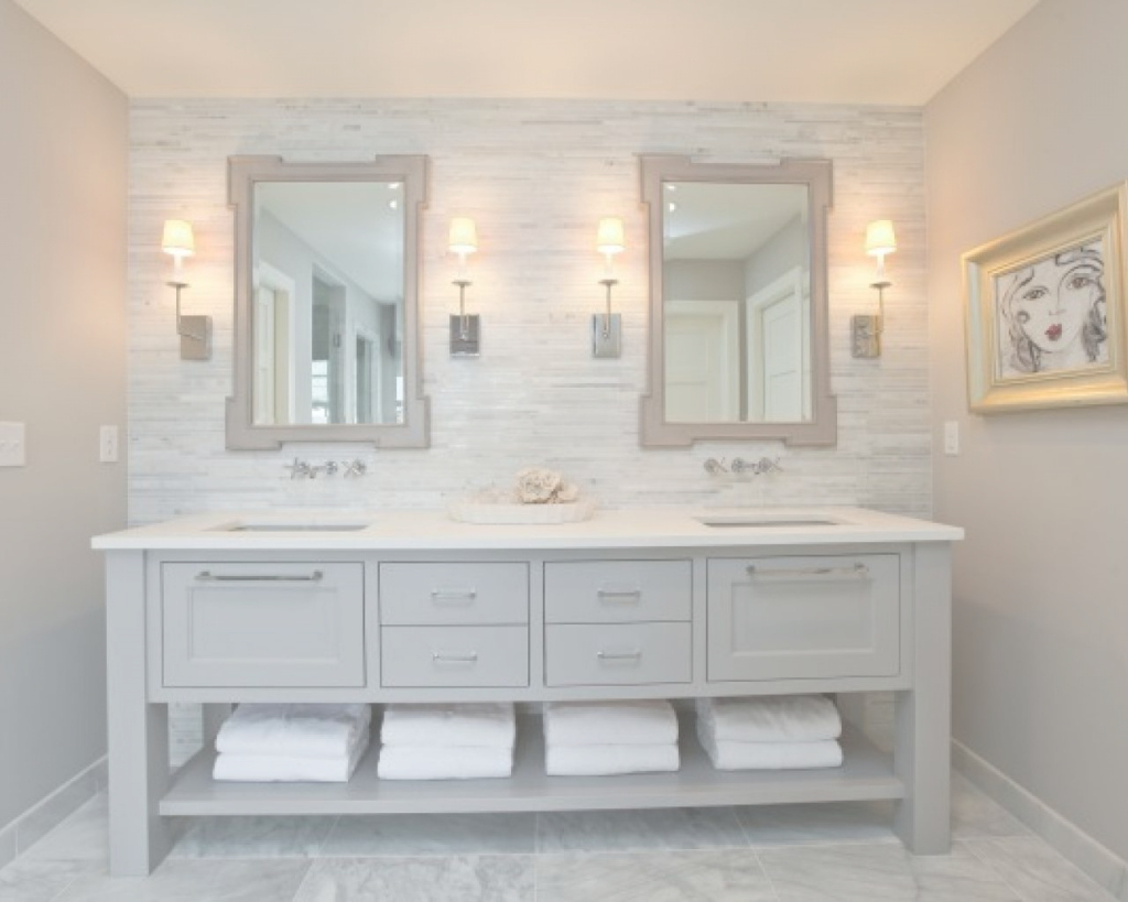 Fancy Bathroom: Great Bathroom Vanity White Quartz Countertop Marble in Marble Bathroom Vanity