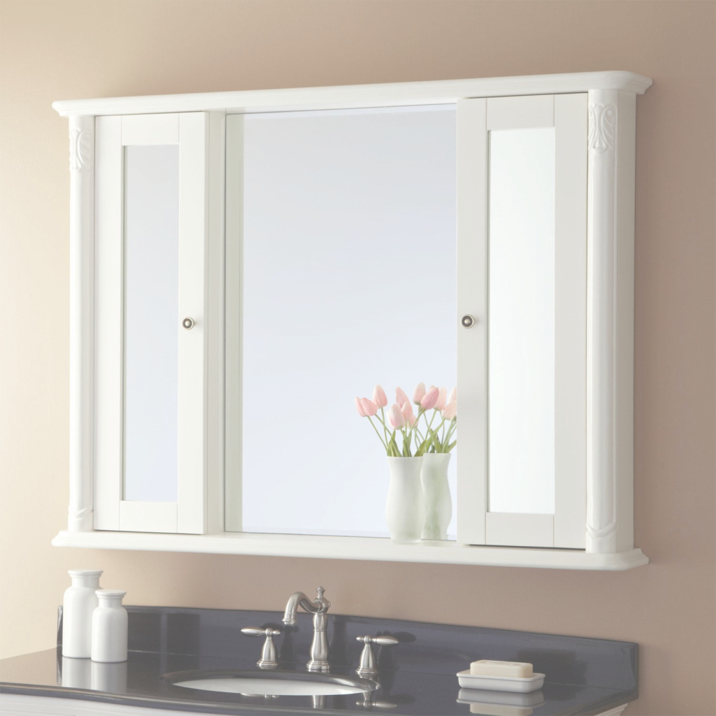 Fancy Bathroom Mirror Cabinet Idea : Top Bathroom - The Strengths Of with regard to Bathroom Mirror With Cabinet