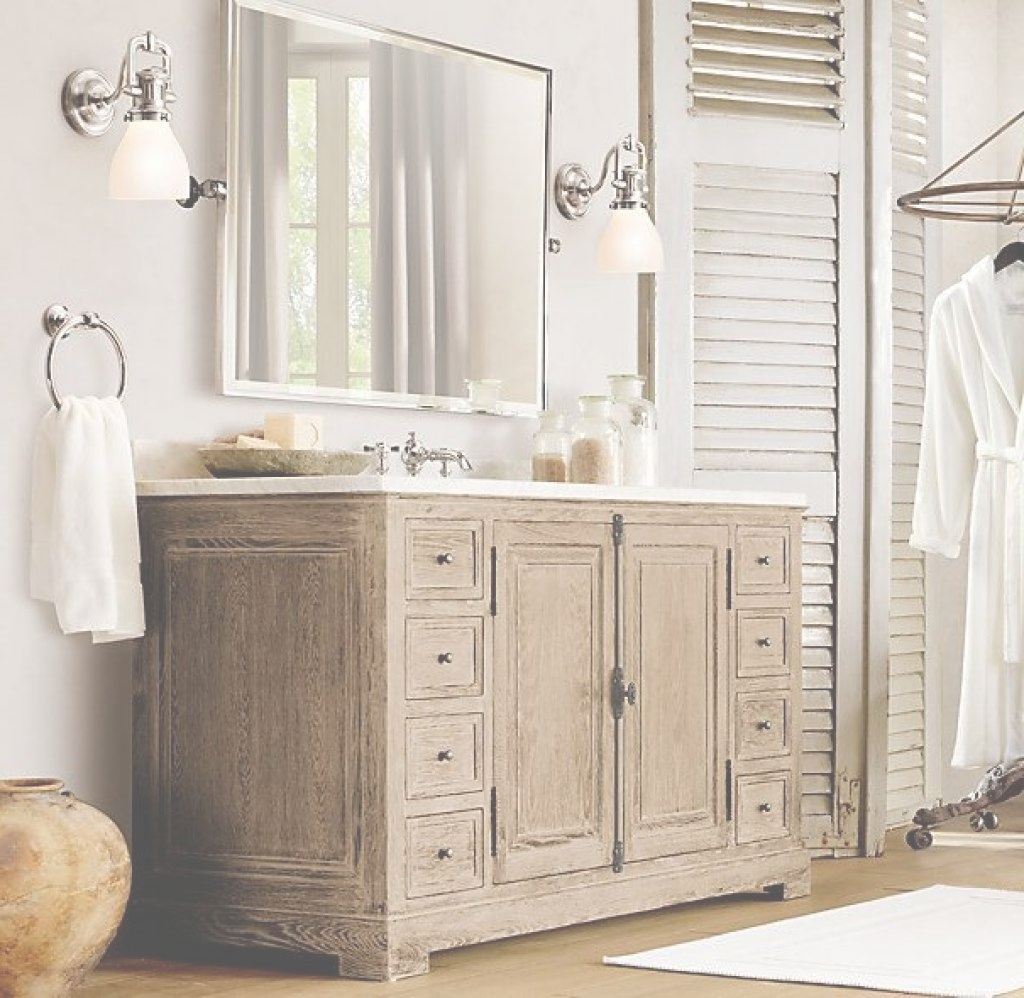 Fancy Bathroom: Restoration Hardware Vanities For Elegant Bathroom within Good quality Restoration Hardware Bathroom Cabinets