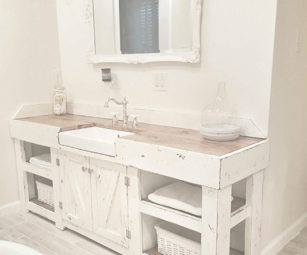 Fancy Bathroom Vanity : Modern Farmhouse Bathroom Vanity Apron Front regarding Apron Sink Bathroom Vanity