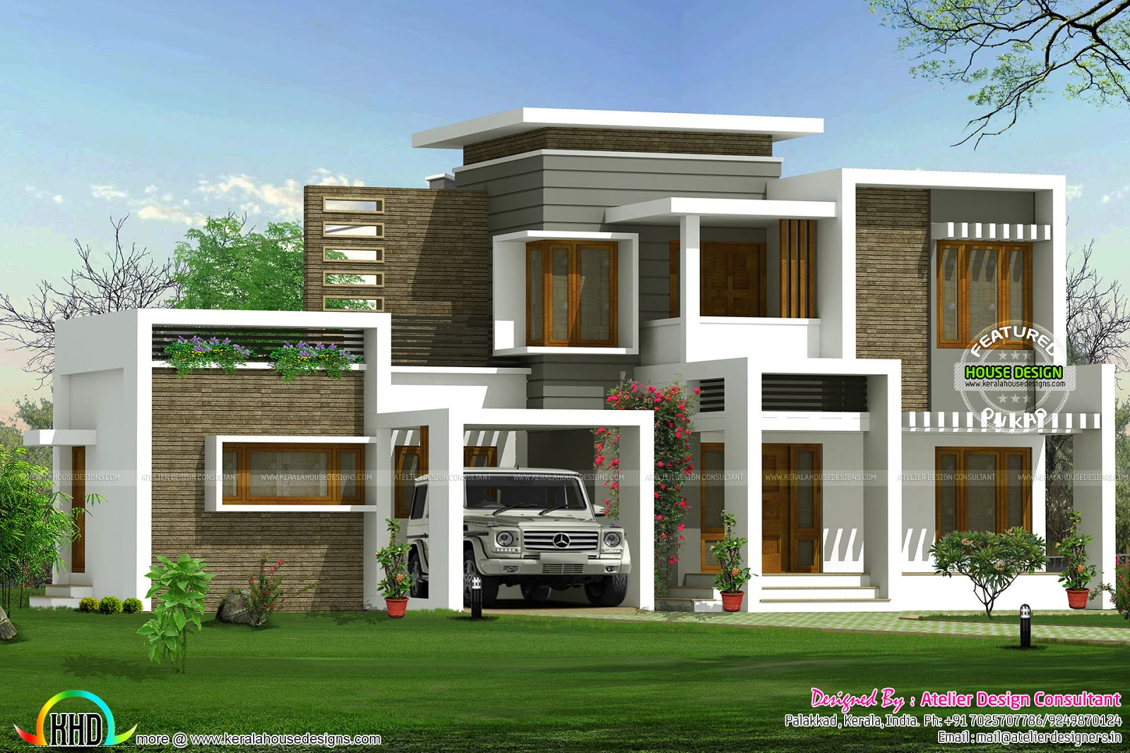 Fancy Beautiful Box Type Contemporary Home - Kerala Home Design And Floor within Kerala House Design With Floor Plans
