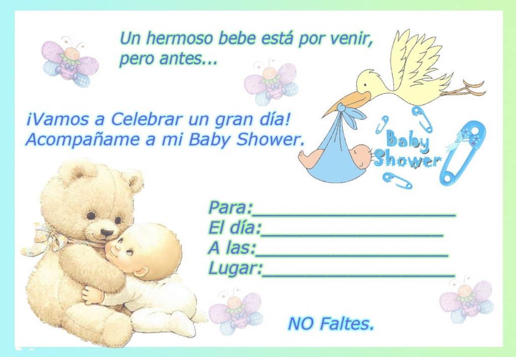 Fancy Beautiful Invitaciones De Baby Shower 23 For With Invitaciones De regarding Good quality Invitaciones De Baby Shower Para Niño