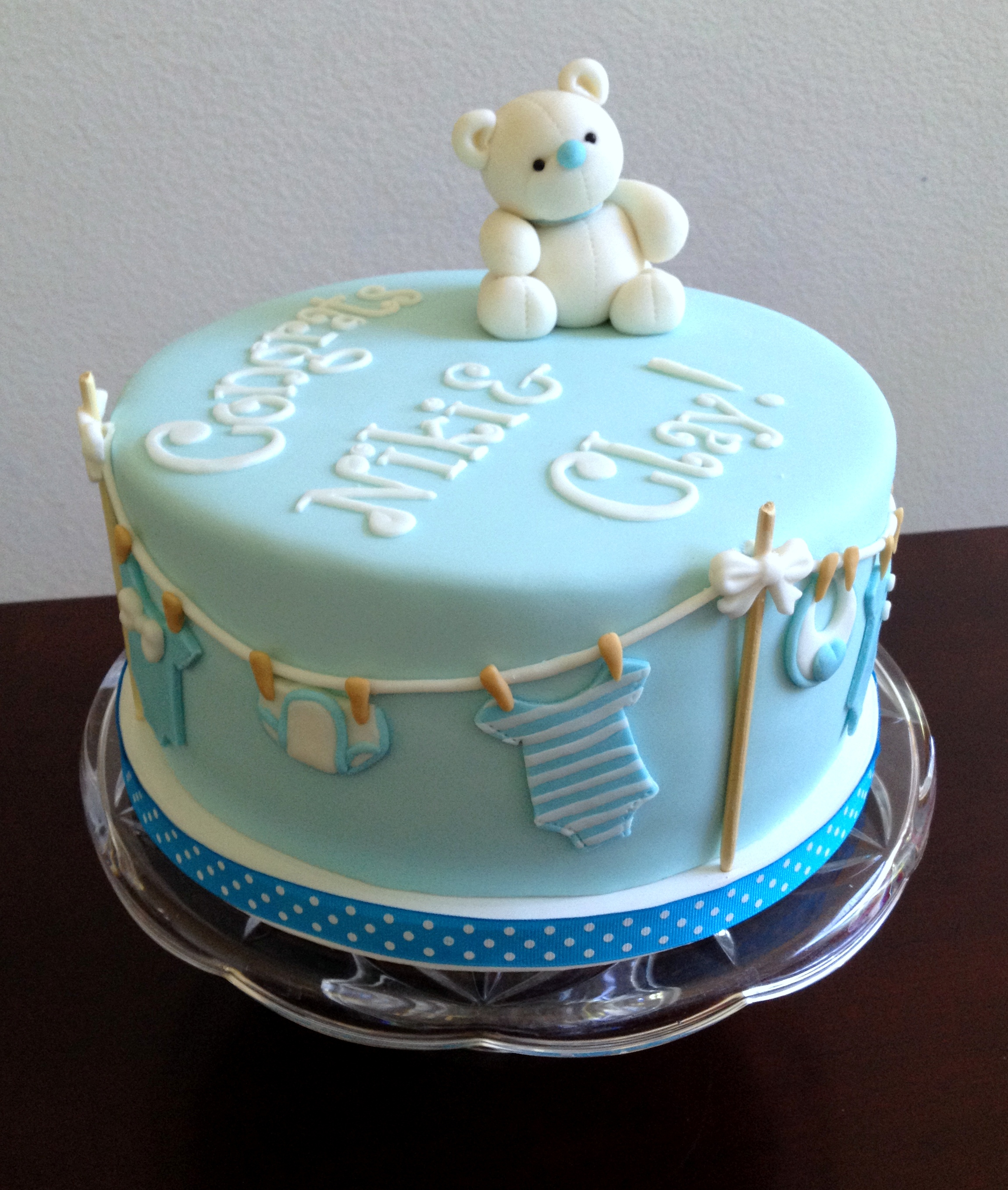 Fancy Best Cakes In The Palm Beaches The Cake Lady Of West Palm Beach Baby intended for Baby Boy Shower Cakes