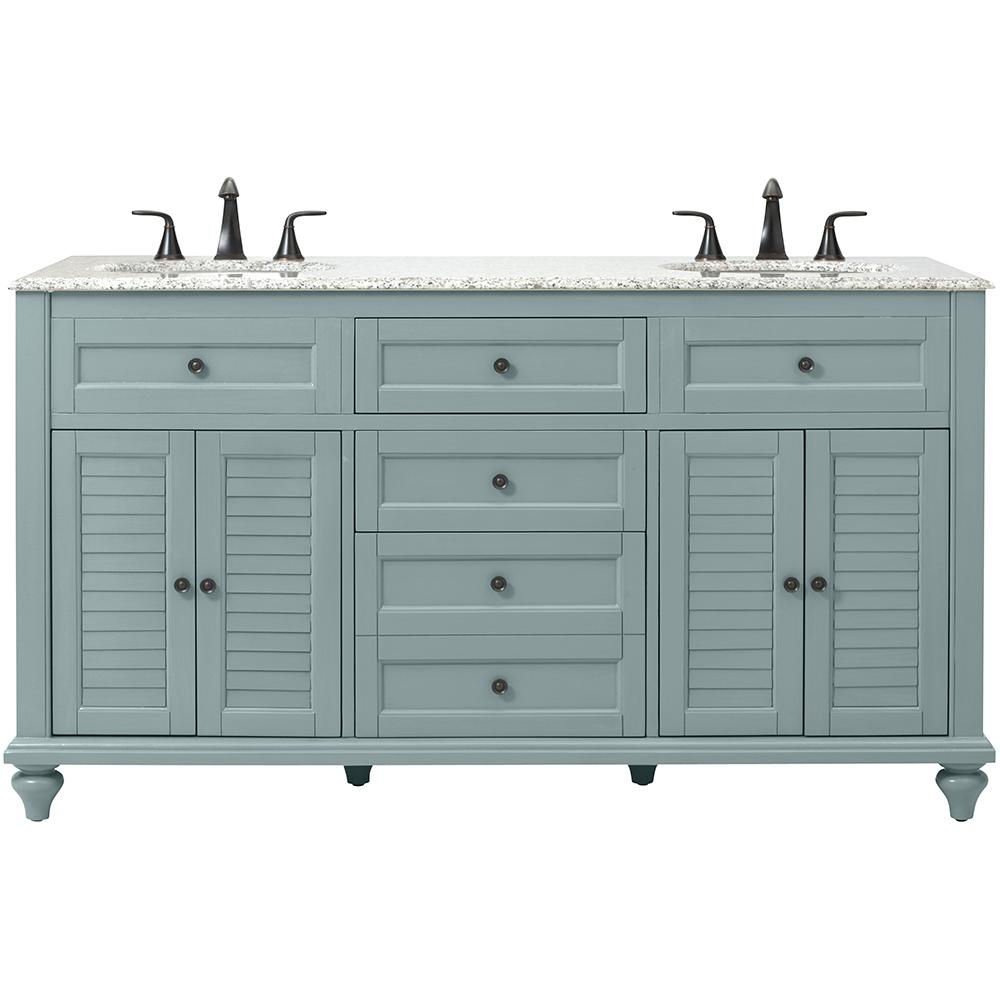 Fancy Blue - Bathroom Vanities - Bath - The Home Depot in Blue Bathroom Vanity Cabinet
