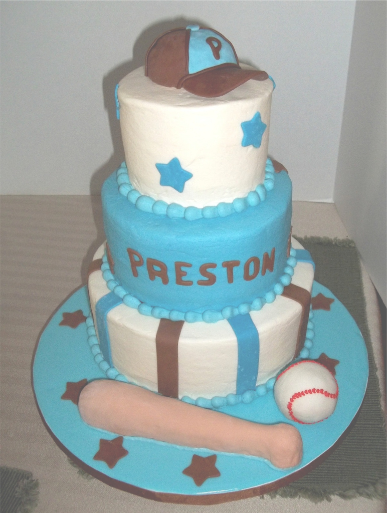 Fancy Bobbie's Cakes And Cookies: A Baseball Baby Shower with Baseball Baby Shower Cakes
