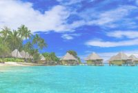Fancy Bora Bora French Polynesia And Over Water Bungalows Palm Trees And for Bungalows In Bora Bora