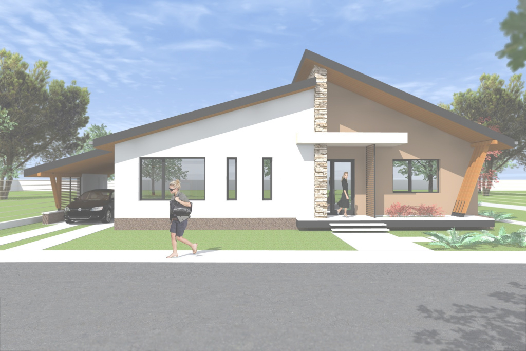 Fancy Bungalow House Design 3D. Model A27 Modern Bungalowsromanian within Inspirational Modern Bungalow