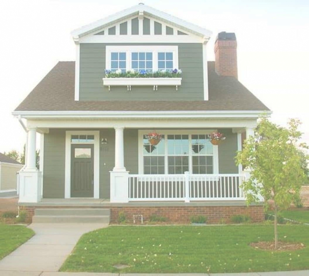 Fancy Bungalow Style Home With Forest Green Wall Colors - Comfy Bungalow pertaining to What Is A Bungalow Style Home