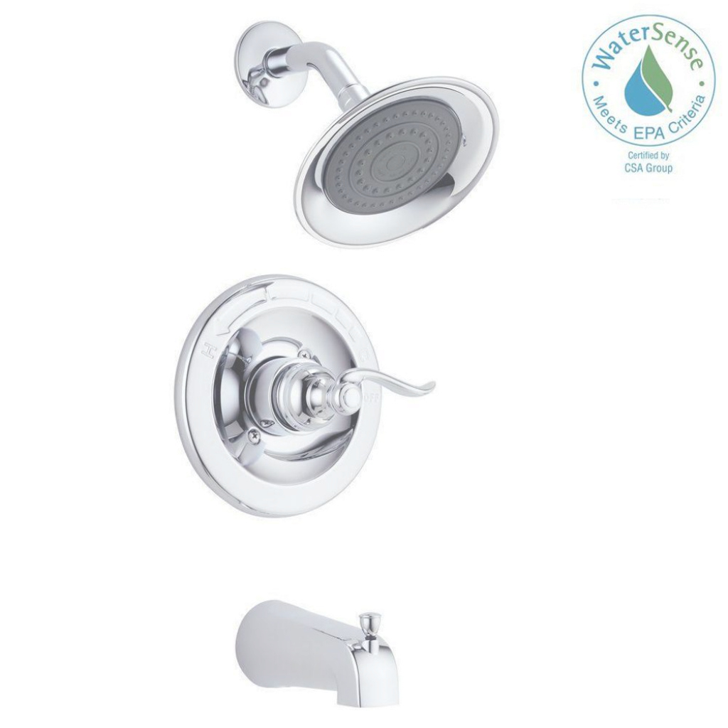 Fancy Delta Windemere Single-Handle 1-Spray Tub And Shower Faucet In throughout Delta Bathroom Shower Faucets